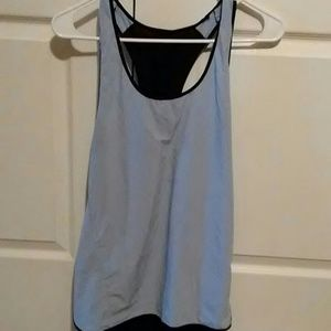 Baby blue and black size 10 tank